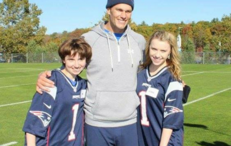 WHS Students Throw with Tom Brady