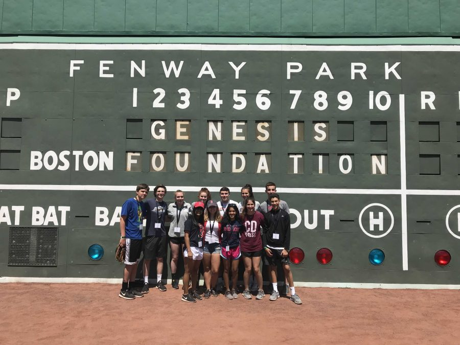 WHS Genesis Club Visits Fenway For Community Event