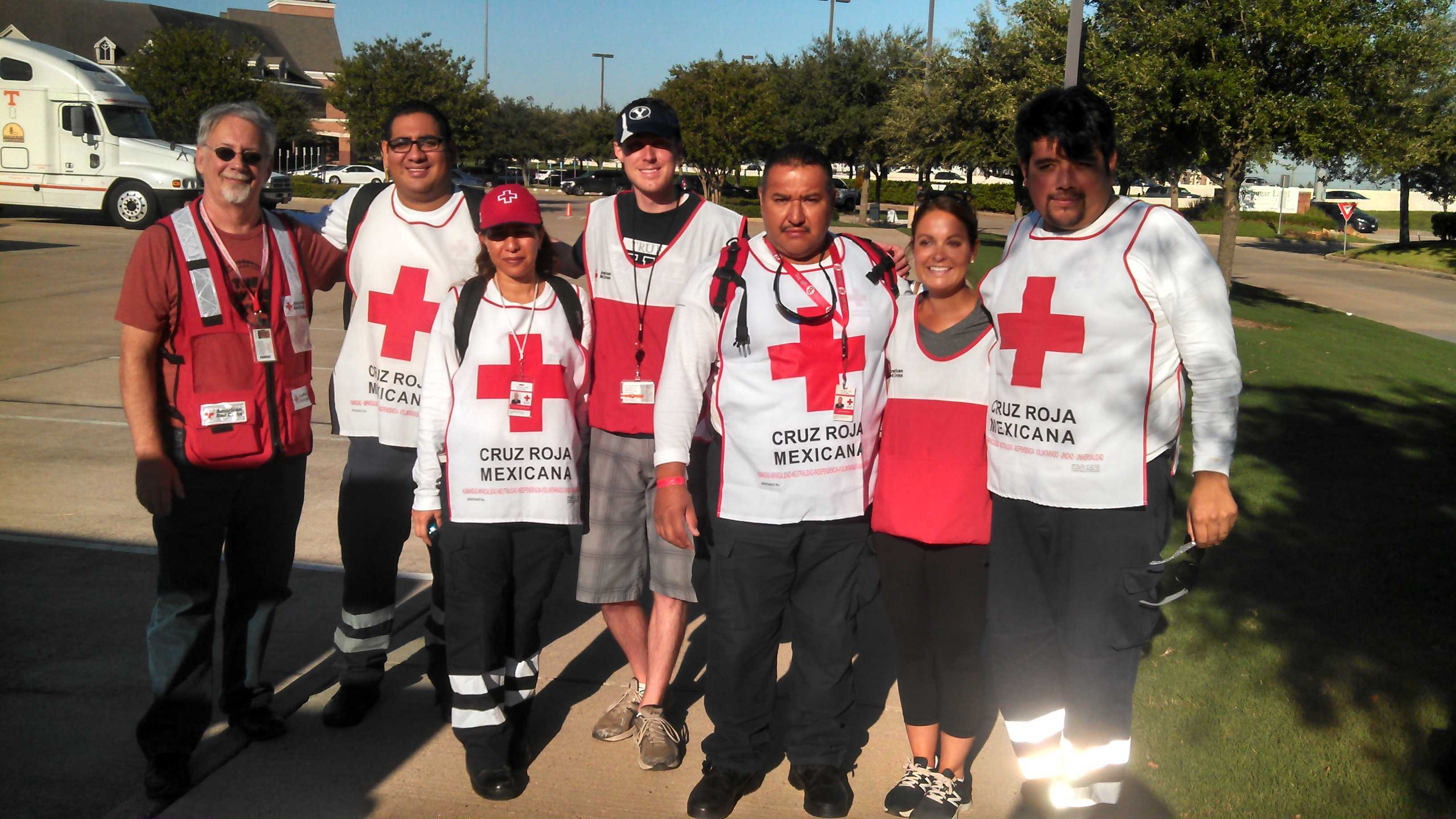 This is the disaster mental health team (DMH) and Ms. Balacco working as partners with the Mexican Red Cross.