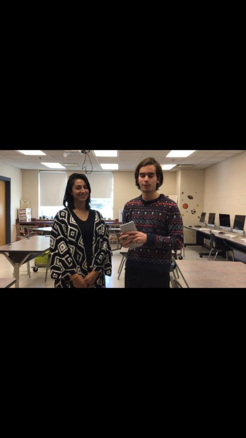 Former+WHS+student+Lina+Canon+is+interviewed+by+current+WHS+senior+Nick+Smaldone