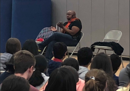 Dr. Mykee Fowlin Visits Westborough High School