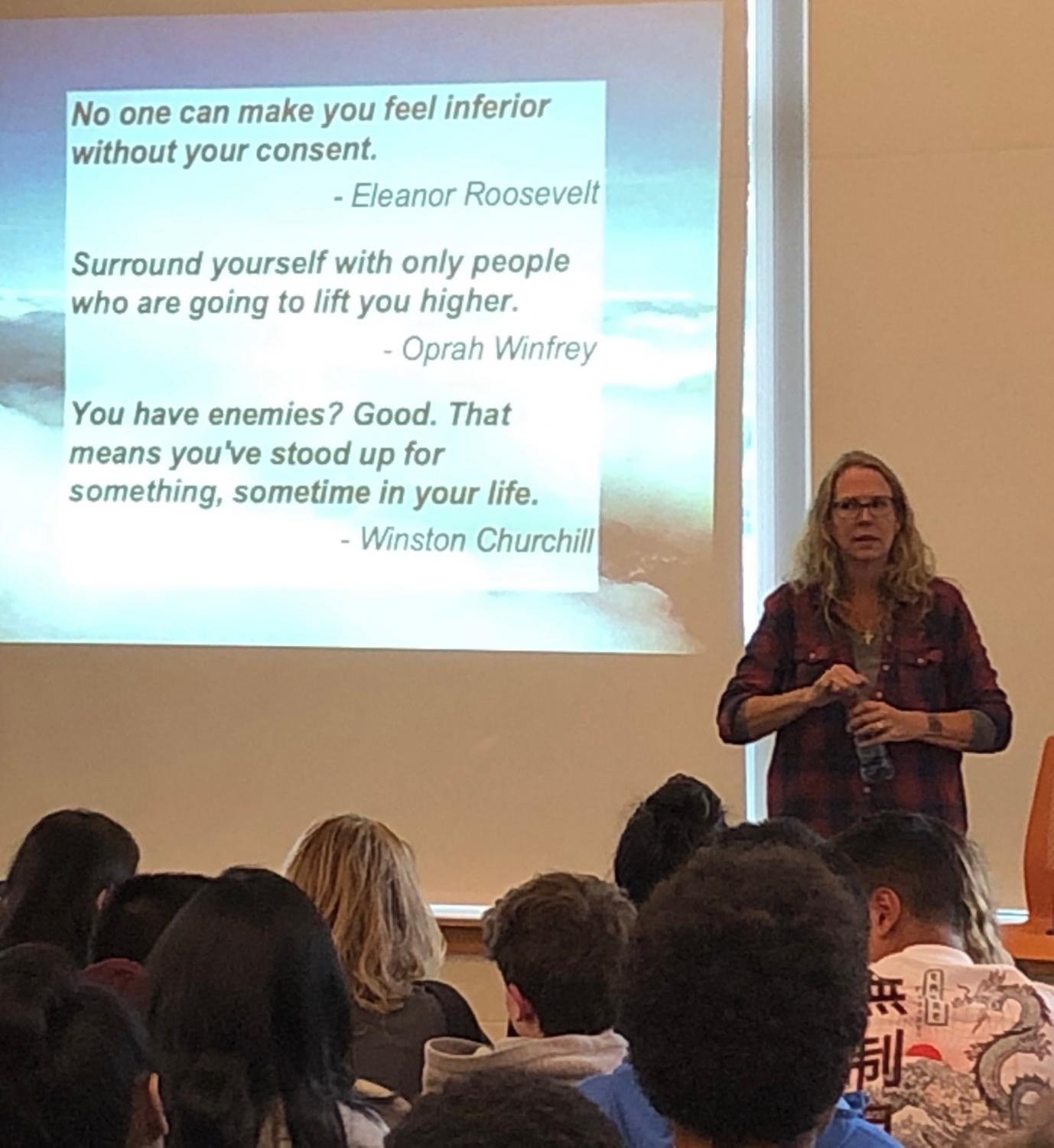 Author A.S. King speaks with WHS students about the importance of following your passion.