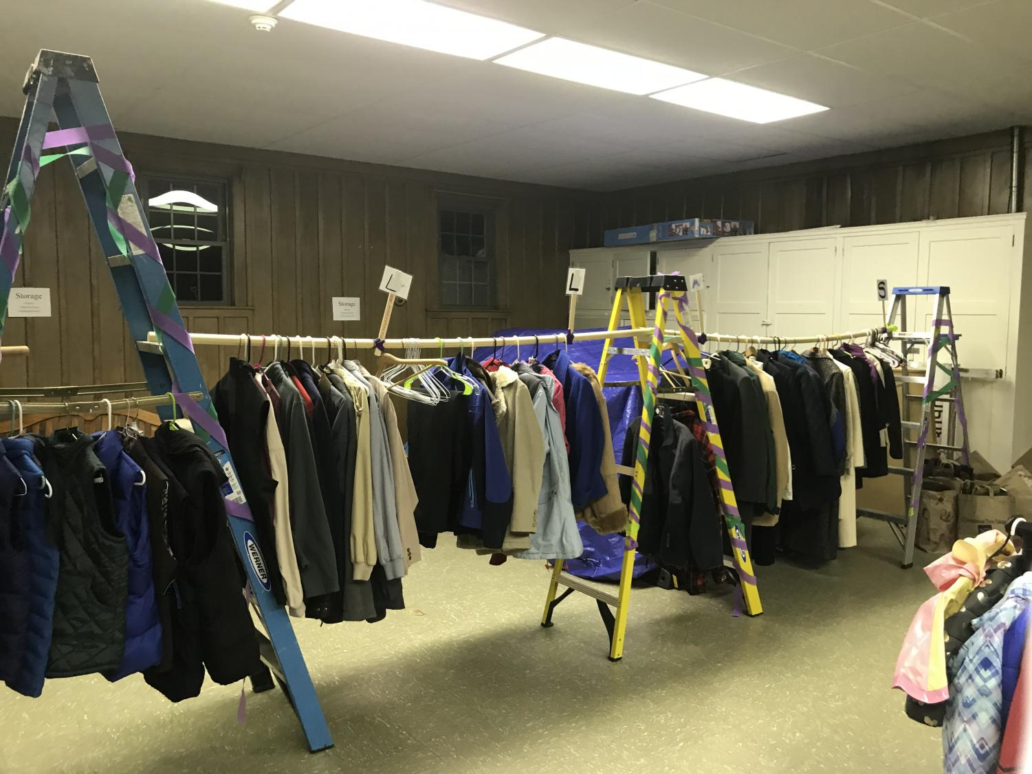 """""""In Your Shoes Community Clothes Closet,"""" a free thrift store for Westborough residents in need of winter clothing."""