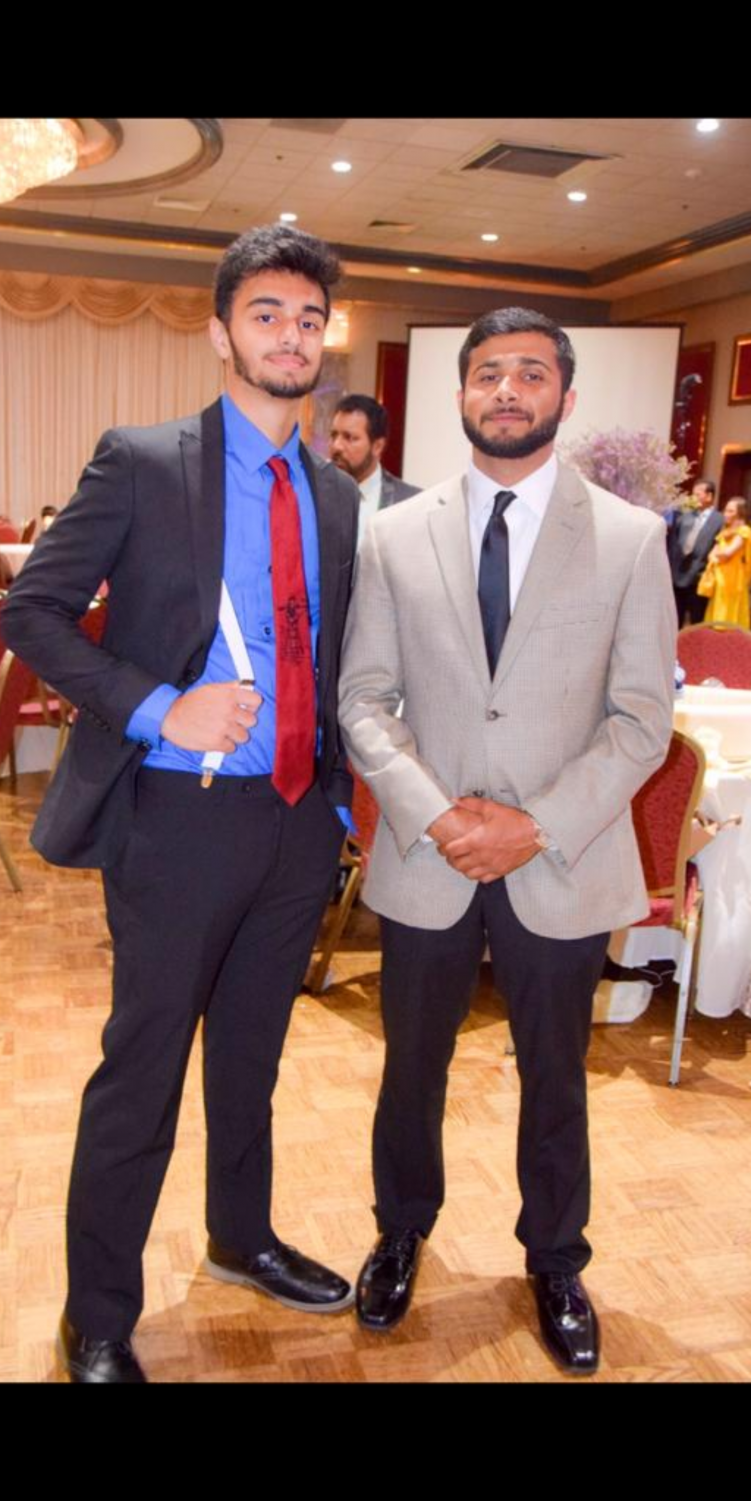 Former WHS Mohammed Ramzanali with current WHS senior Aun Syed at a friends wedding.