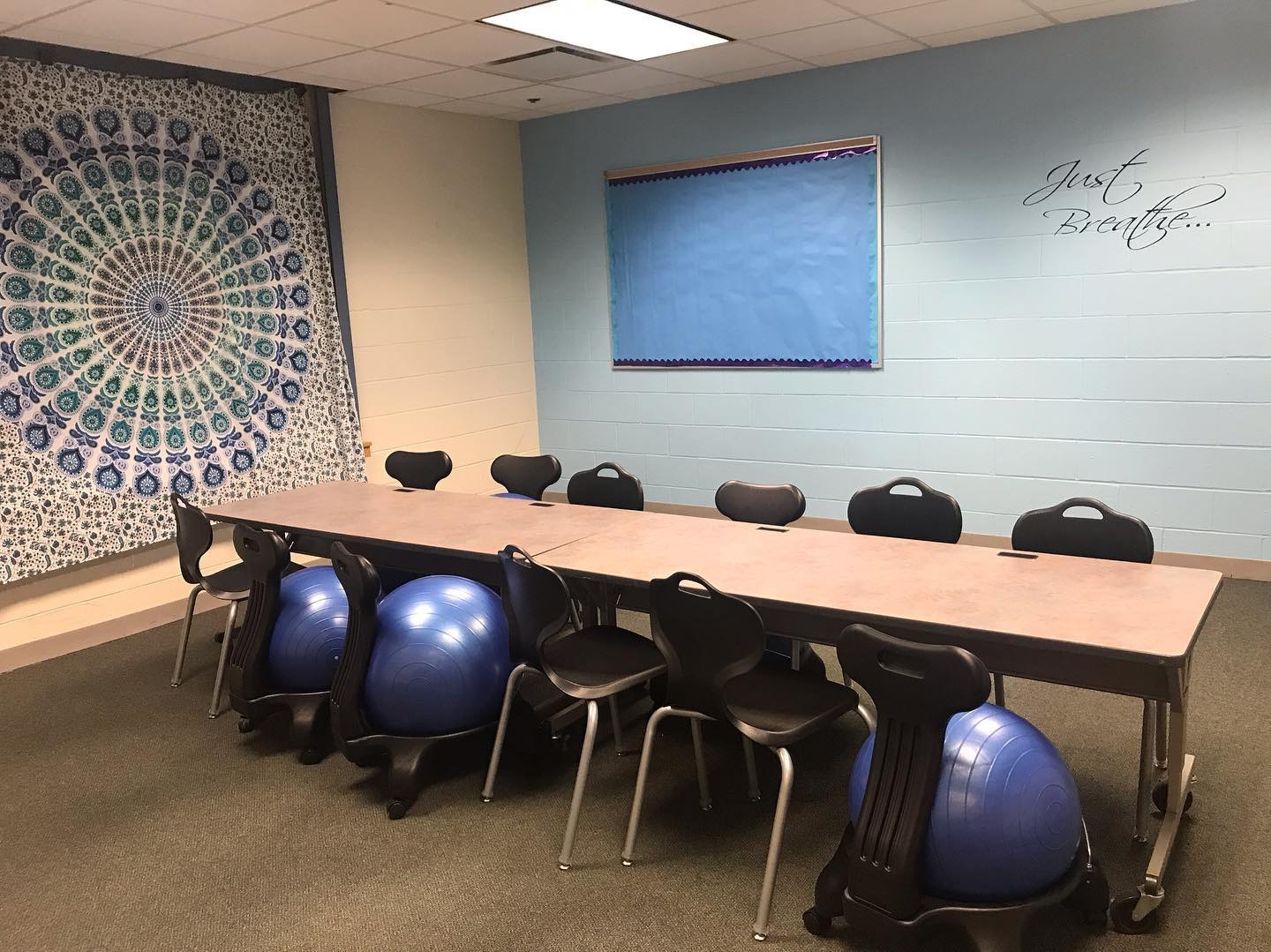 Teen Advisory Board's stress less space located in the library.