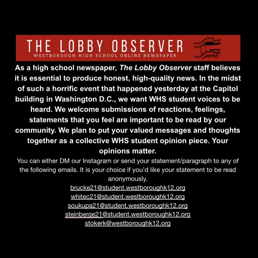 Lobby Observer Capitol Hill Statement