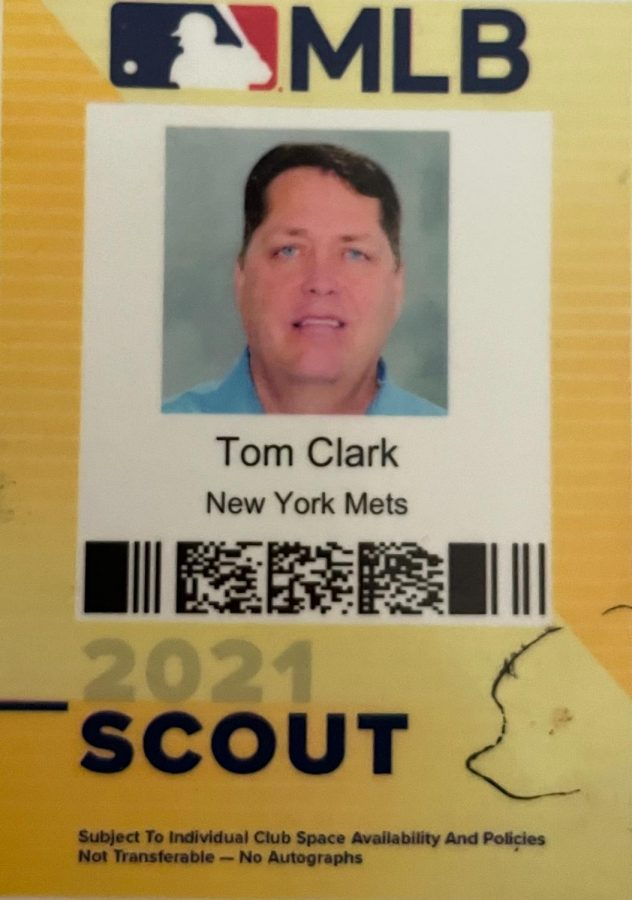 New+York+Mets+scout+Clark+uses+this+pass+to+enter+baseball+parks%2C+conventions%2C+and+anywhere+he+needs+authorization+to+evaluate+baseball+players.