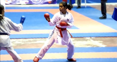 Nisha Balaji has been practicing and competing in the sport of karate for the past nine years.